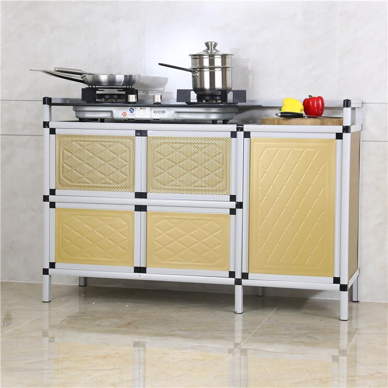 小碗柜厨房简易橱柜小橱柜租房用碗柜家用组装经济型收纳柜多功能