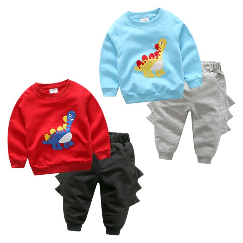 男童卫衣长袖套装 2019韩版春装新款儿童宝宝童装外套卡通两件套