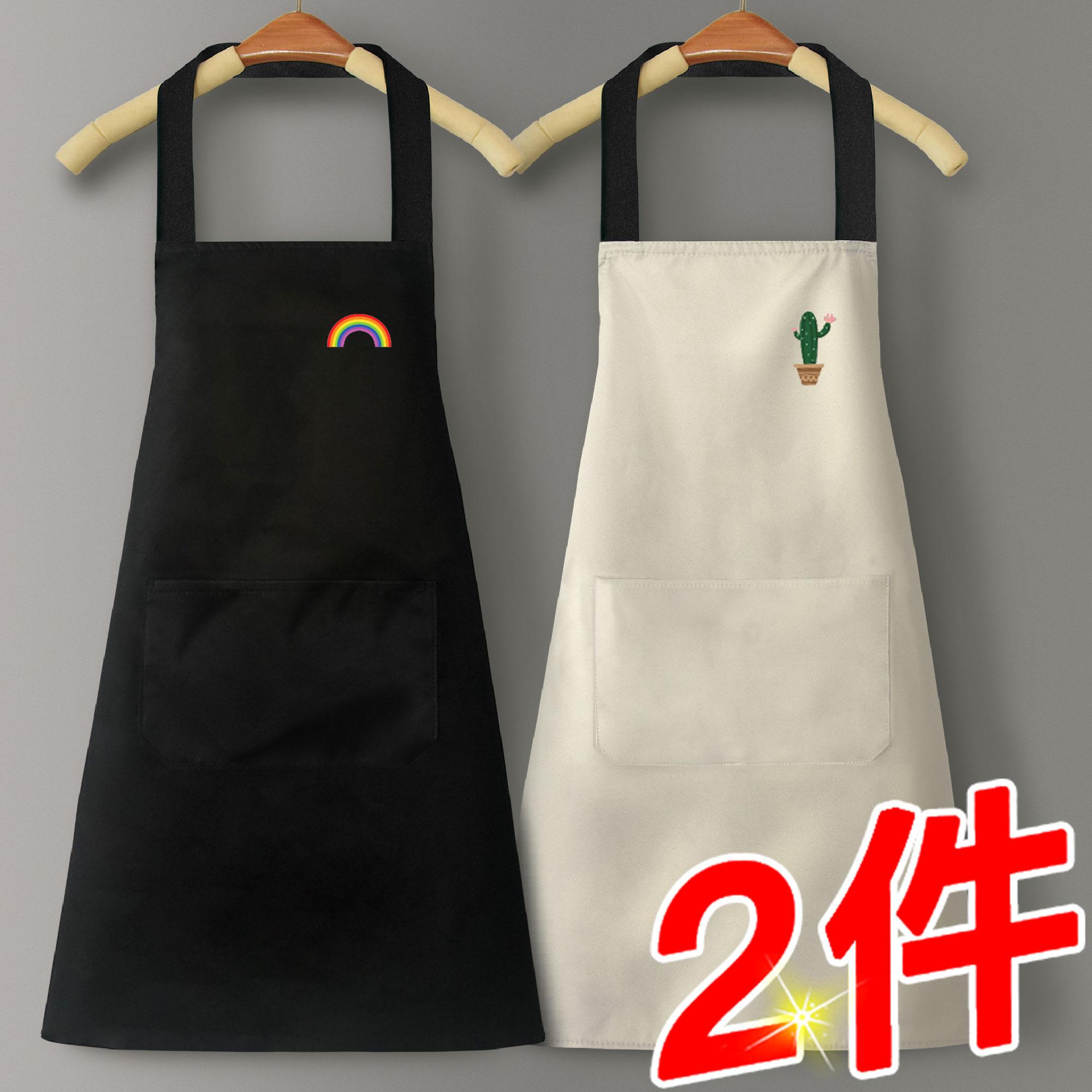 围裙家用厨房防水防油男女工作服布定制logo印字可爱日系韩版时尚