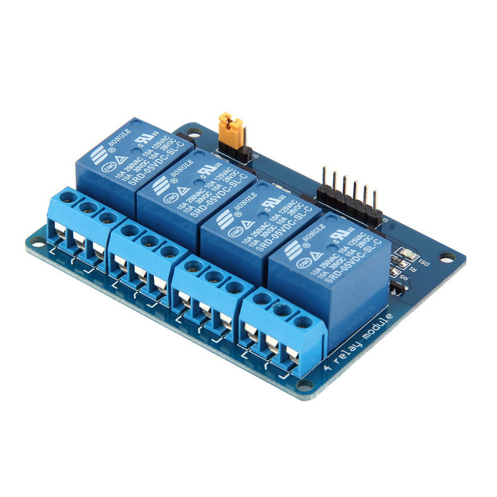 Hot New 1pc 4 Channel 5V Relay Module Board Shield For PIC,可领取元淘宝优惠券