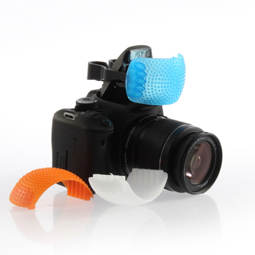 In stock! 1Set 3 Color Pop-Up Flash Diffuser Cover for Canon,可领取元淘宝优惠券