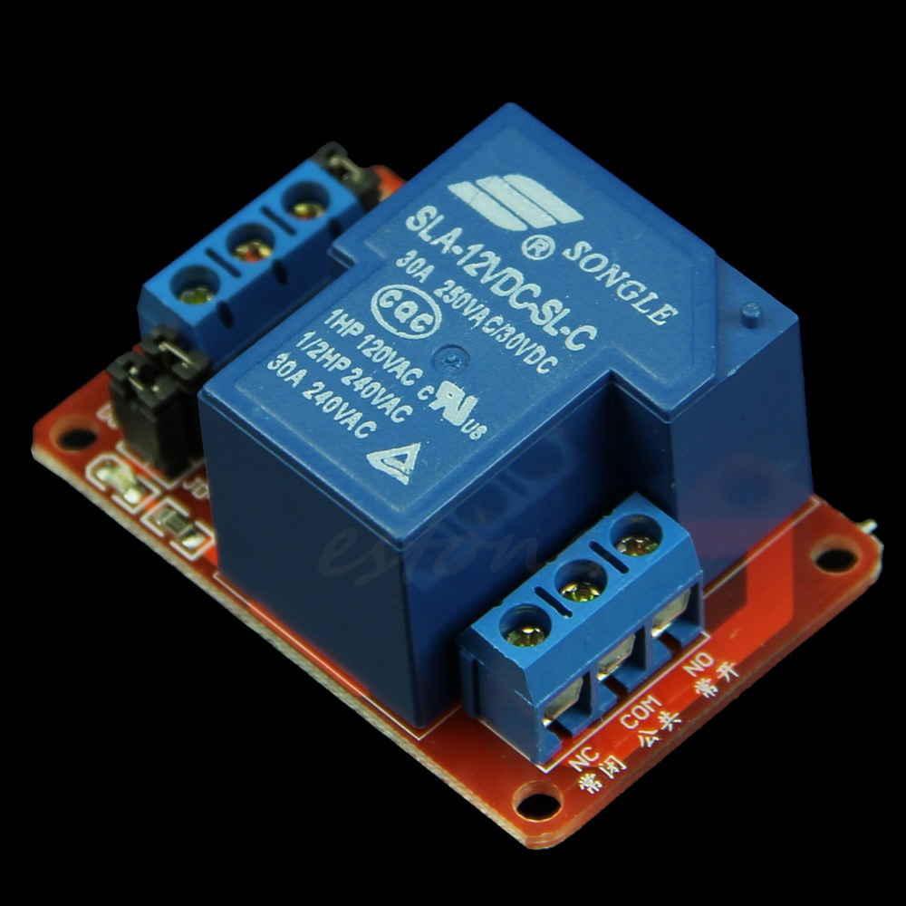 F85 New 30A 12V 1-Channel Relay Module Board,可领取元淘宝优惠券