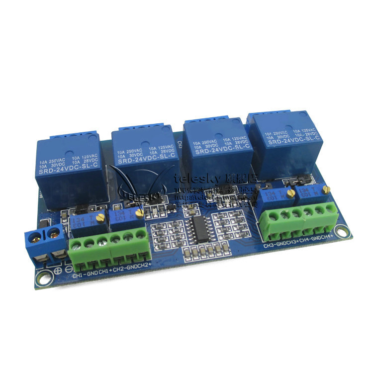 4 relay module four channel voltage comparison relay circui,可领取元淘宝优惠券