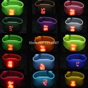 Girls / Boys Sport LED Digital Watch Ultra-thin Design Jelly