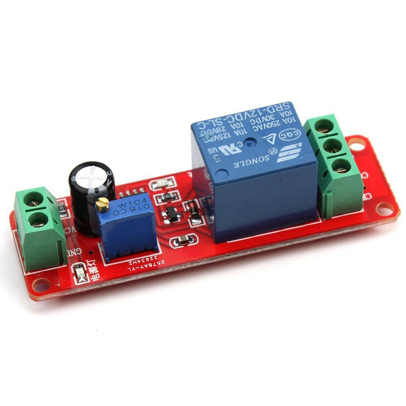 Red DC12V Pull Delay Timer Switch Adjustable Relay Module,可领取元淘宝优惠券