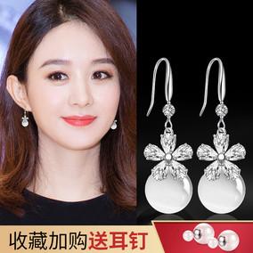 猫眼石女长款日韩国气质个性耳环