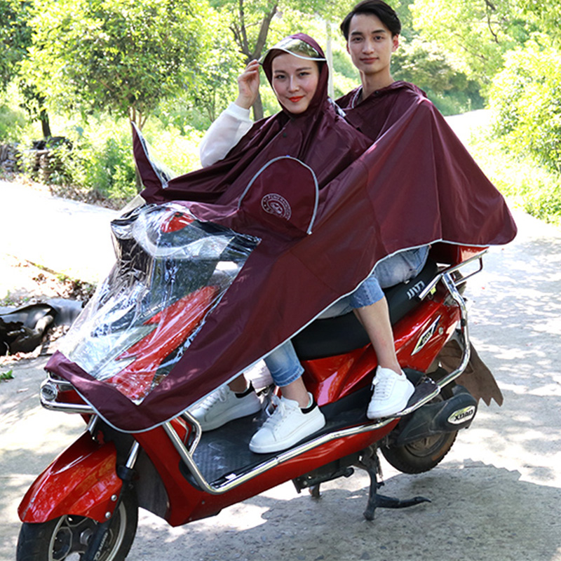 Baiyun Bluebird electric vehicle motorcycle raincoat adult enlarged thickened mens / womens Oxford fabric single poncho