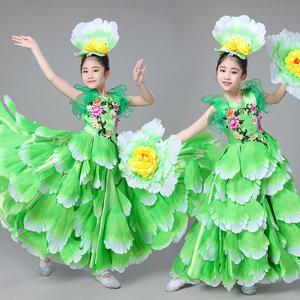 六一儿童女童幼儿园牡丹仙子大摆裙