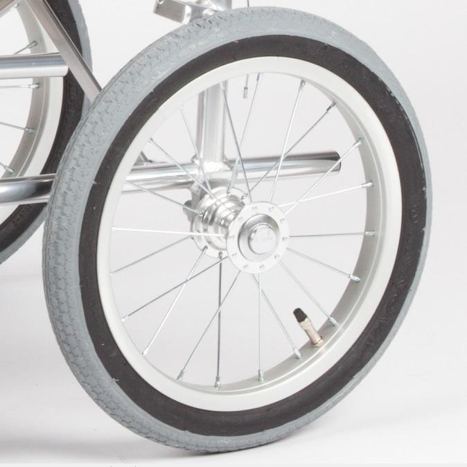 中进轮椅配件6寸PU万向轮12寸14寸16寸22寸24寸后轮胎209/457/458