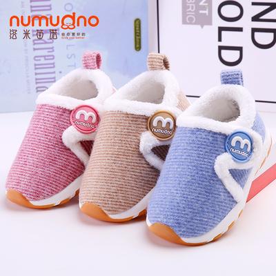 加绒宝宝鞋秋冬1-3岁2男女婴儿软底学步鞋子防滑保暖棉鞋运动童鞋