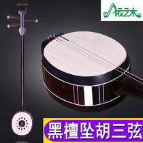 河南黑檀三弦坠胡黑檀材质厂家直销学习演奏用琴赠全套配件
