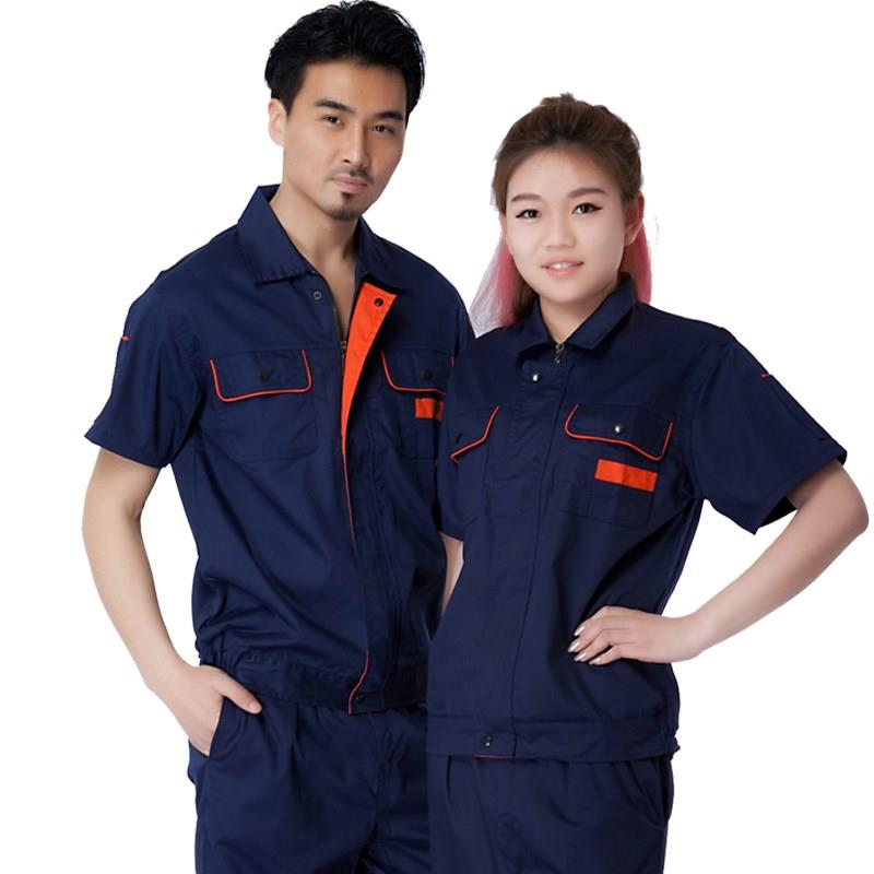 New summer labor protection suit electrical clothing hotel engineering department work uniform short sleeve auto repair beauty