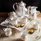 送禮 茶具英式 下午茶茶具茶壺茶杯咖啡杯套裝 陶瓷咖啡具帶托盤歐式