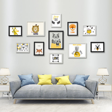 Simple 11 frame creative living room combination non perforated photo wall decoration bedroom photo wall photo frame wall background wall hanging