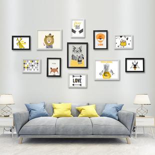 简约11框创意客厅组合免打孔照片墙装饰卧室相片墙相框墙背景挂墙
