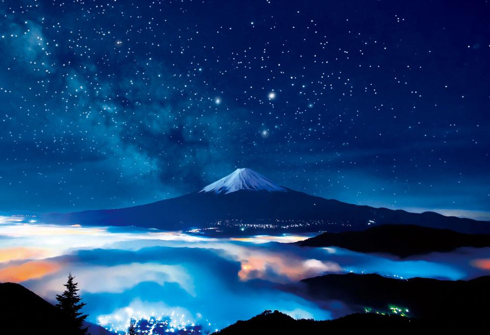 【现货】Beverly 星空富士山 夜光 300片 日本进口拼图 益智玩具