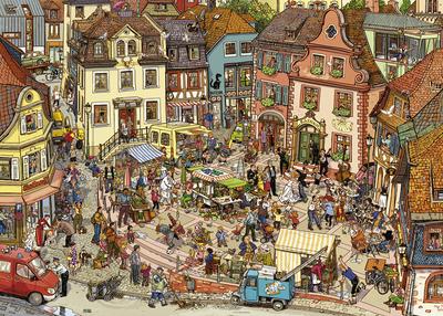 【现货】HEYE 超级市场 1000片 德国进口拼图 益智玩具 雷诺瓦