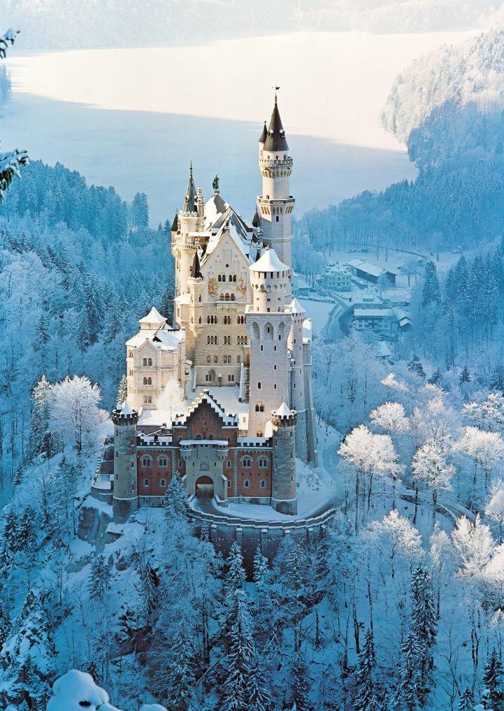 【现货】Ravensburger 冬季的新天鹅堡 1500片 德国进口拼图
