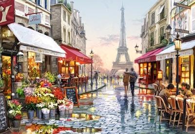 【现货】Castorland 巴黎街道花店 Macneil 1500片 欧洲进口拼图