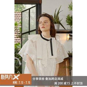 娃娃裙宽松 纯棉白色连衣裙女仙 气质 显瘦 田园风 少女 CSYH原创