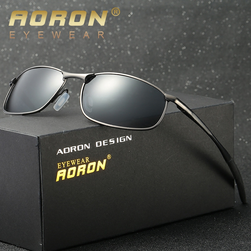 Mens Sunglasses 2020 new small long face personalized rectangular Polarized Sunglasses small frame drivers mirror