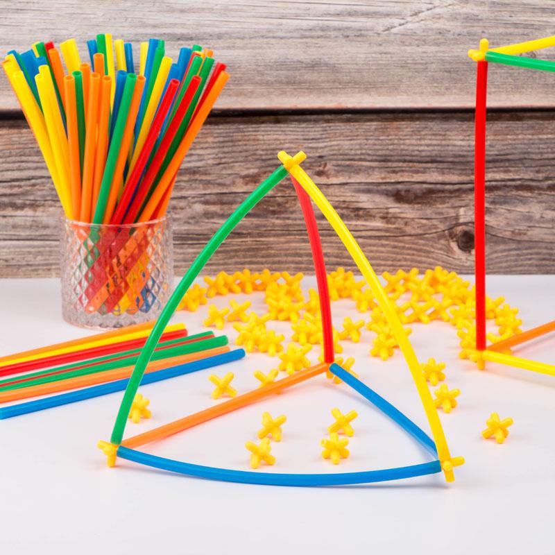儿童4d空间拼搭建吸管创意diy积木