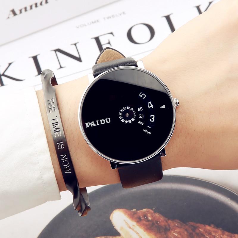 ins风韩版简约个性创意概念时尚黑科技酷炫潮流防水男女学生手表图片