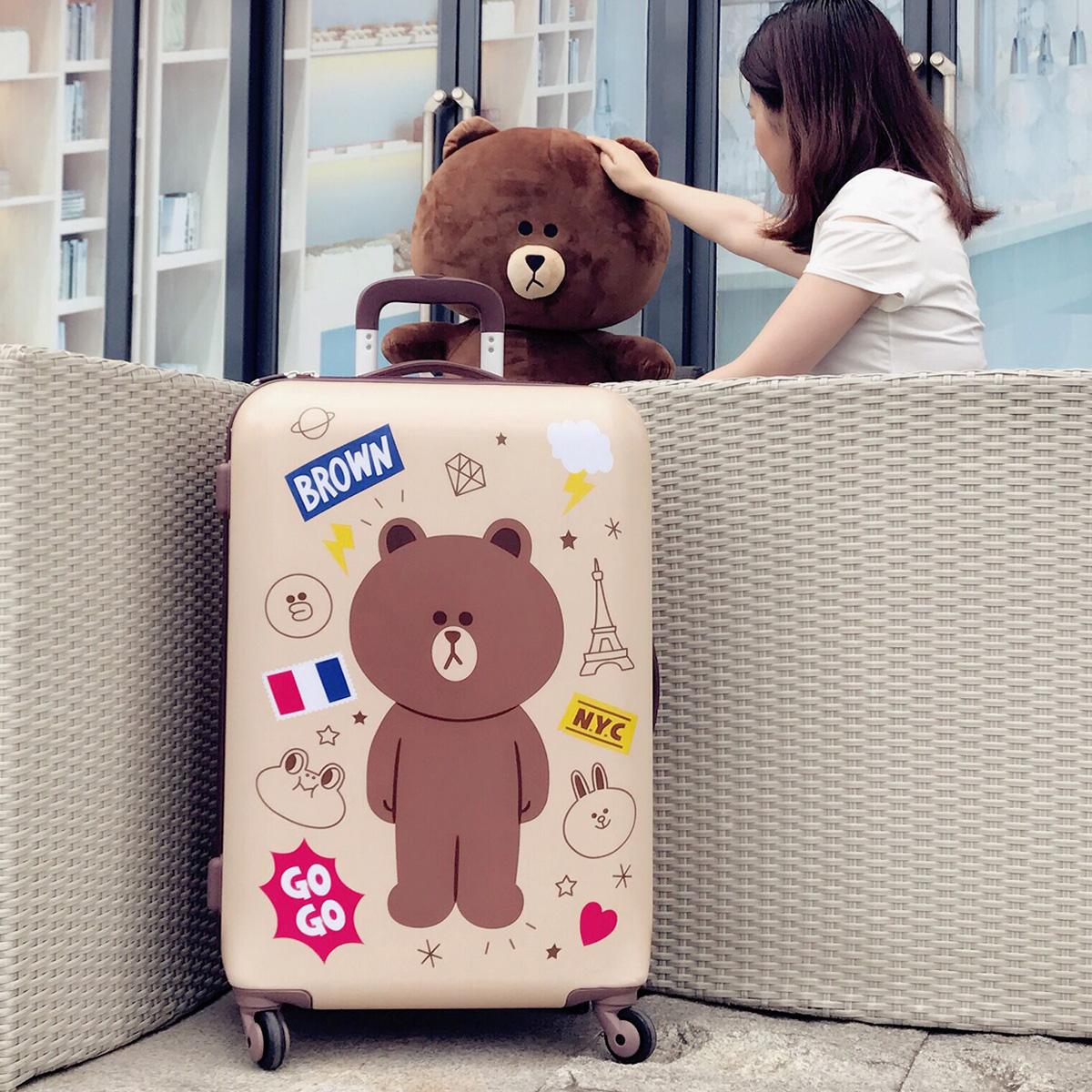 Korean code box luggage suitcase children cartoon Trolley Case cute little fresh 20 inch universal wheel student girl