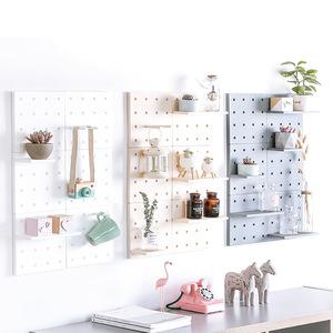 创意家装墙面隔板免打孔墙上置物架厨房客厅墙面壁挂洞洞收纳架