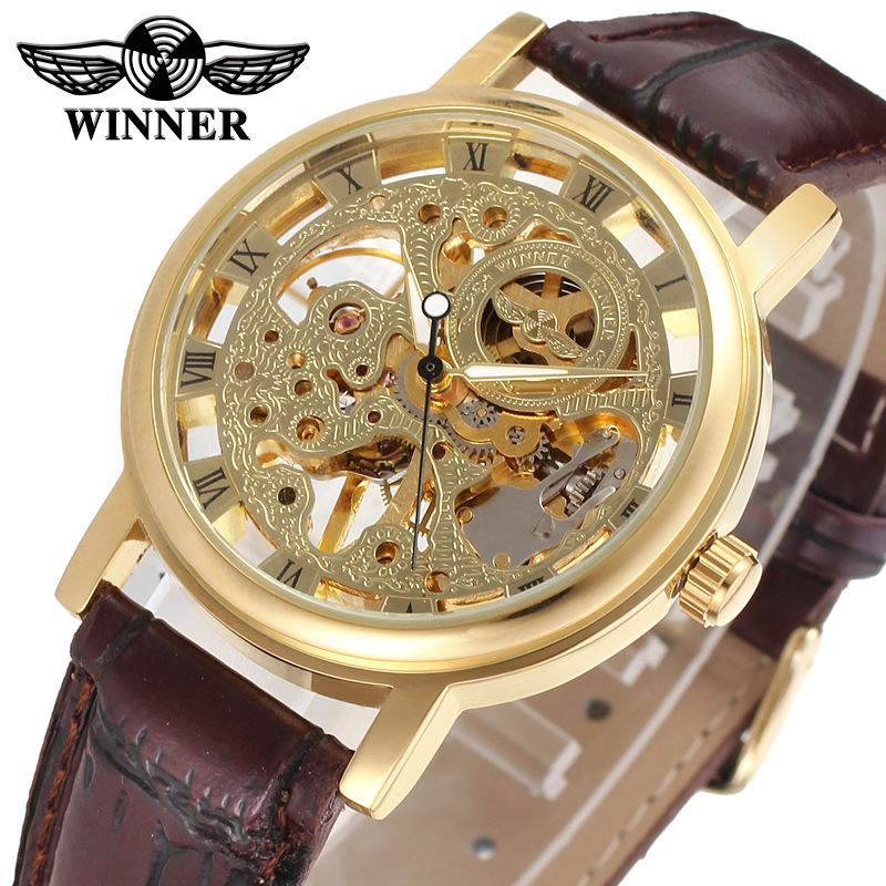 Mens authentic mechanical watch fashion hollow Waterproof Automatic Swiss watch imported movement boutique Watch