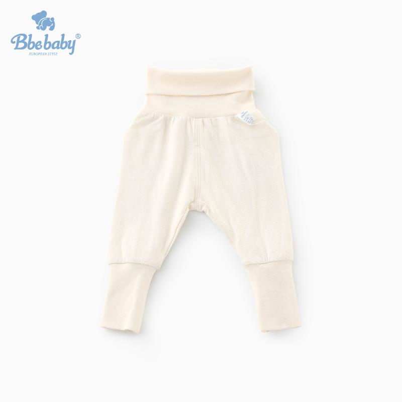 Bbebaby专柜秋冬宝宝高腰护肚裤婴儿缩脚保暖裤子棉男女童0-1-2岁