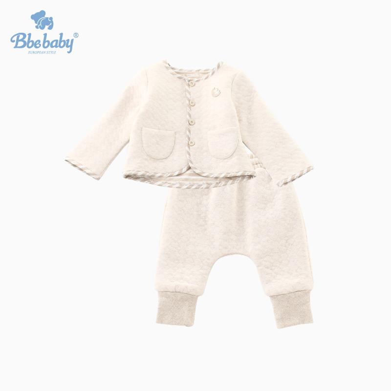 Bbebaby2018秋冬新款男女婴童上衣束口大PP裤保暖开扣内衣套装