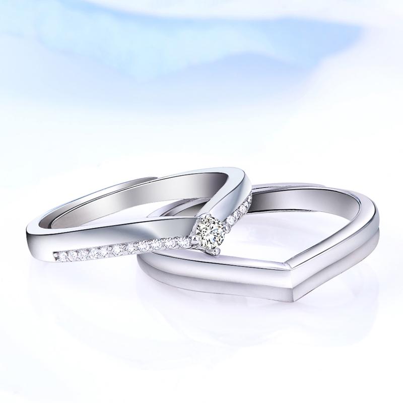 勇敢的爱 925纯银情侣对戒婚戒  创意活口戒指  生日礼物