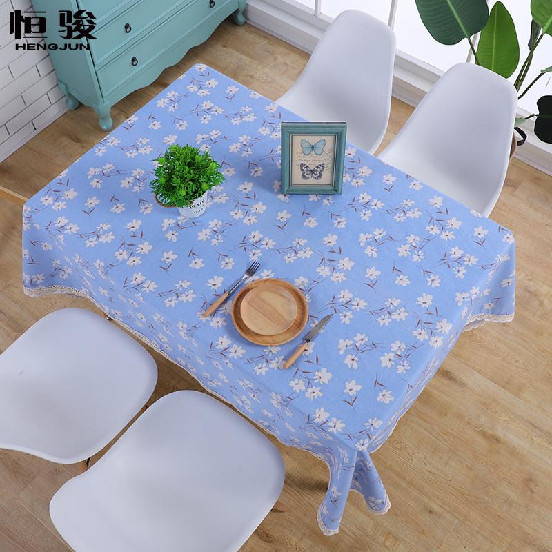 茶几布艺棉麻桌布现代简约餐桌布家用欧式长方形台布亚麻小清新