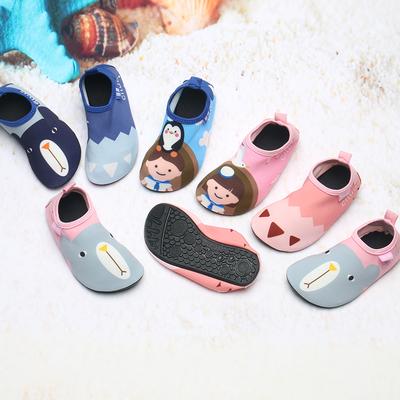 沙灘鞋兒童防滑速干涉水鞋女寶寶游泳浮潛鞋潛水鞋男軟底赤足襪子