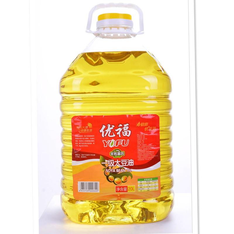 恒旺优福【非转基因】一级大豆油20L精炼食用油炒菜香油