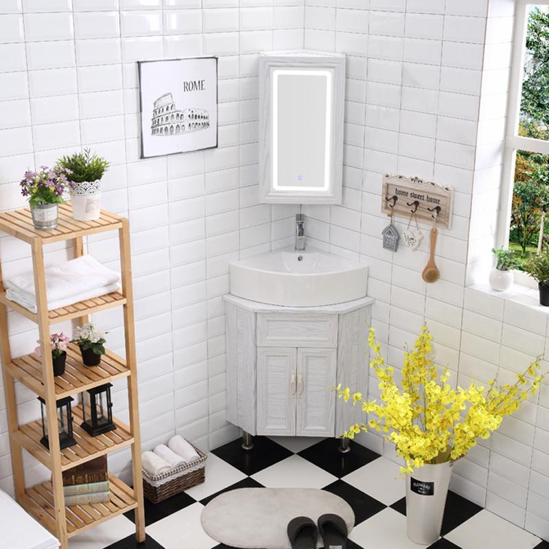 580.00元包邮小户型三角形洗手盆柜卫生间浴室柜