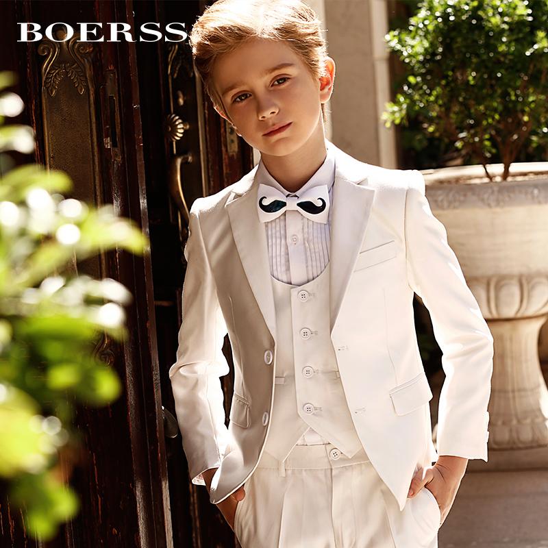 BOERSS男童西装套装儿童礼服帅气花童婚礼小主持人钢琴演出服秋冬