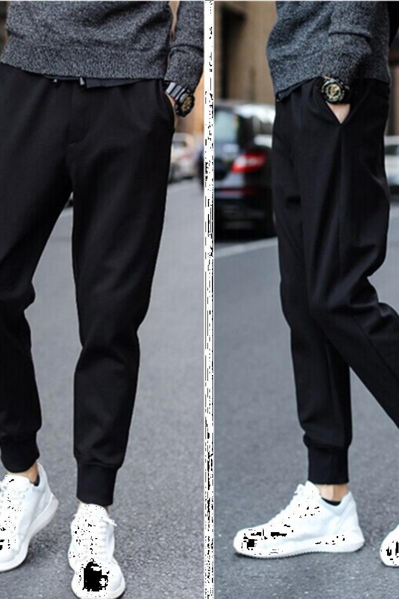运动裤子男韩版潮流春夏季薄款宽松小脚休闲裤束脚卫裤九分哈伦裤