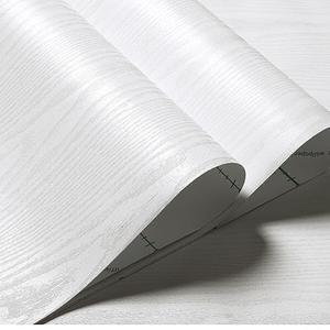 灰白色木纹家具翻新贴纸客厅自粘墙纸自贴背胶装饰墙装膜家俱宿夏