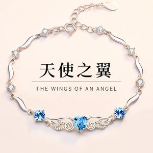 领20元券购买天使之翼女纯银手镯ins小众手链