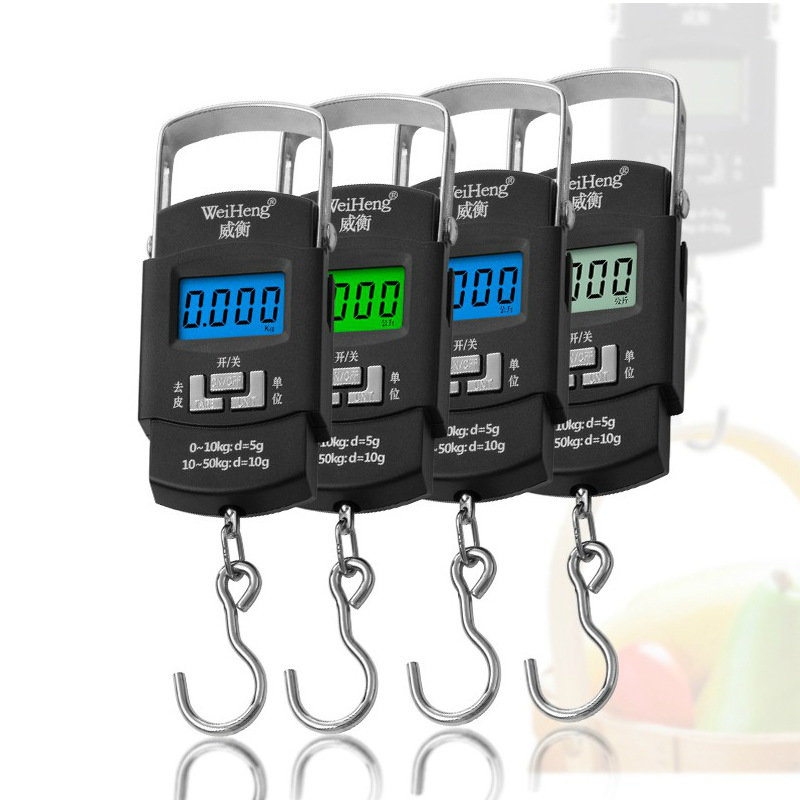 Mini spring portable electronic scale 50g express scale high precision household small scale luggage scale small scale