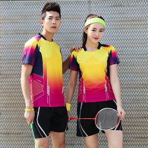 羽毛球服运动套装定制男女短袖夏季透气速干乒乓球网球短裤比赛服