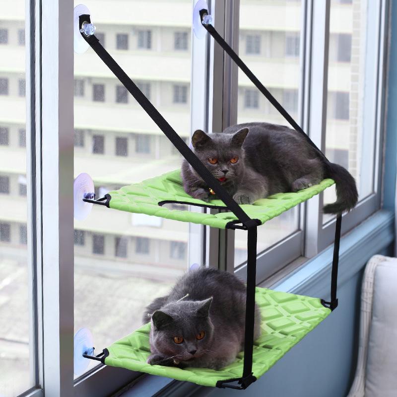 猫吊床夏天双层猫床钩吸盘式猫咪吊床晒太阳玻璃挂窗猫垫猫窝床
