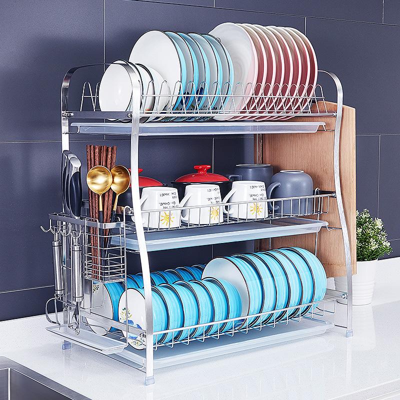 304不锈钢碗筷盘洗碗池家用沥水架热销43件需要用券
