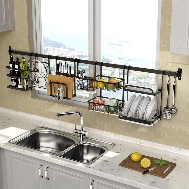 不锈钢厨房窗台置物架窗户壁挂五金挂件挂架挂杆挂式墙壁收纳架子限9000张券
