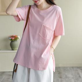 园园美衣夏季新款复古纯色百搭t恤