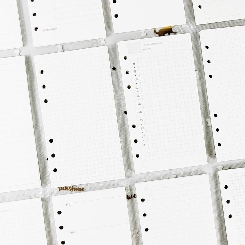 基础白色活页内页  手帐替芯 活页本内页手账本内芯手帐本替换页