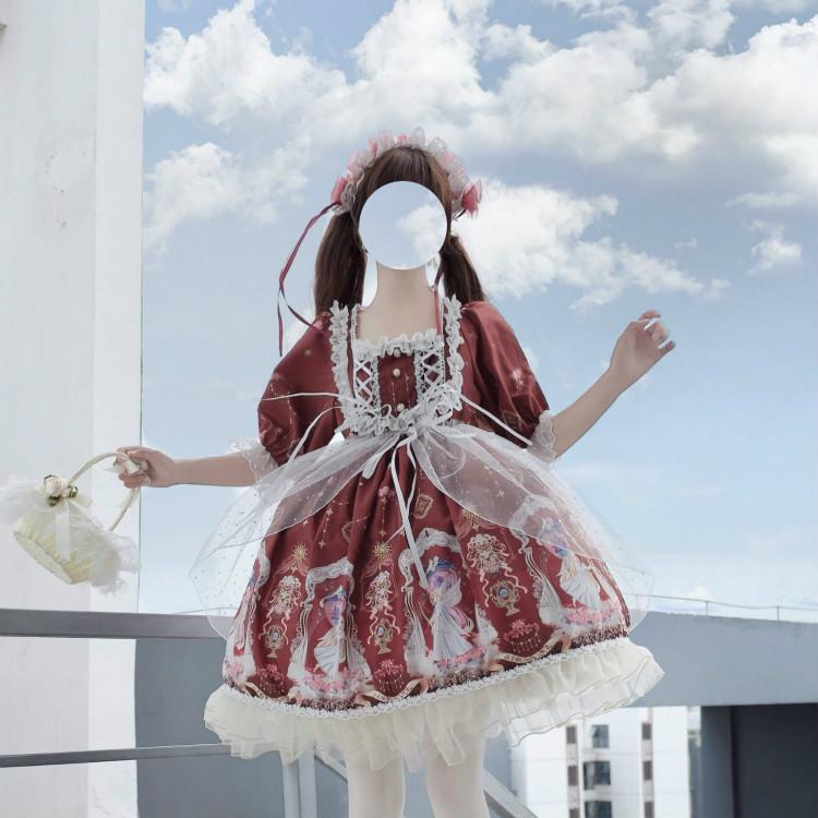 11月08日最新优惠洛丽塔正版裙原创天使沙漏lolita内搭女学生洋装全套软妹op连衣裙