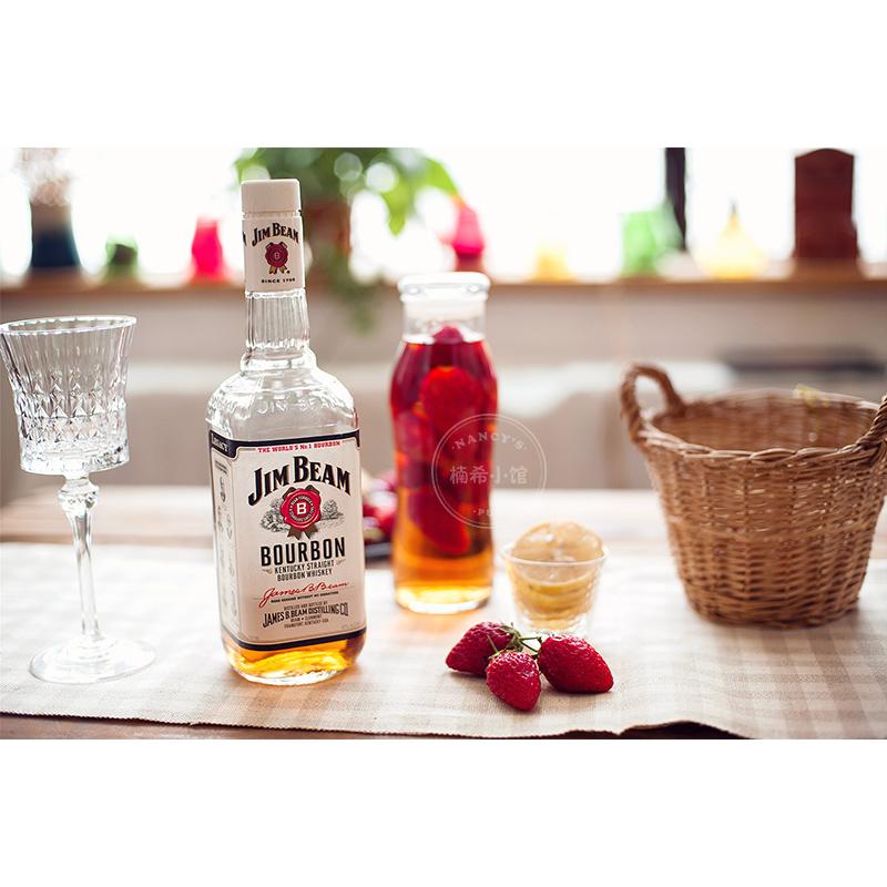 美国原瓶进口洋酒白占边波本威士忌beamJim学做草莓威士忌